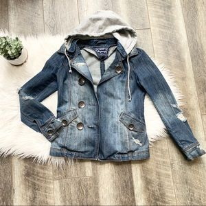 Sugarfly Hooded Denim Jacket Size XS